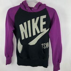 Nike Sportswear hoodie purple and black women's SP
